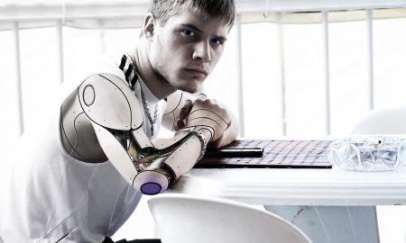 Robot human image