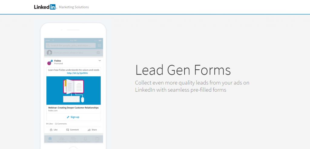 Lead-Gen Form by LinkedIn Adds More Value to Sponsored Content with Quality Data