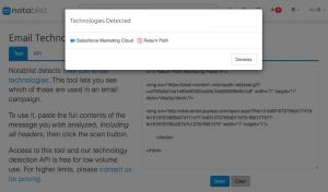 Notablist API Email Technology Inspector