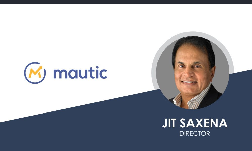 Jit Saxena Joins Mautic's Board of Directors