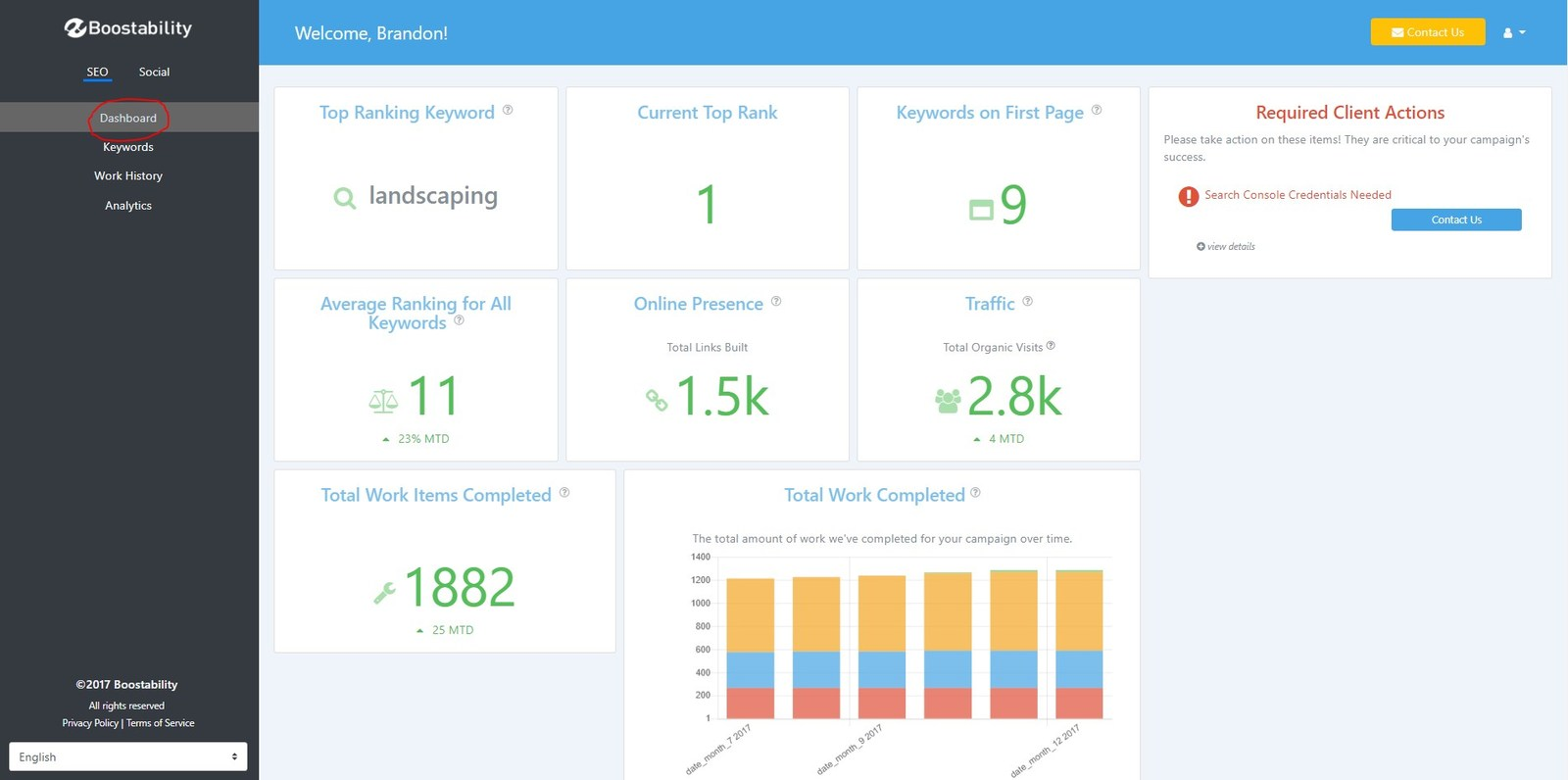 Boostability Releases New SEO and Social Media Reporting Dashboard