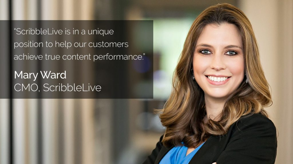 ScribbleLive Appoints Mary Ward As Chief Marketing Officer