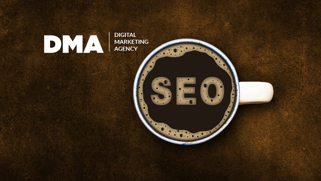 DMA is highlighted as the top-rated agency offering search engine optimization, pay per click management, and reputation management services.