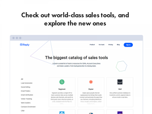 Reply.io Sales Tools Catalog