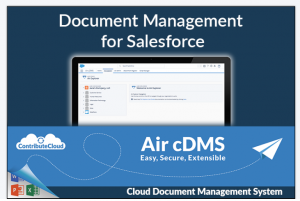 Air cDMS, Document Management for Salesforce - by ContributeCloud.com