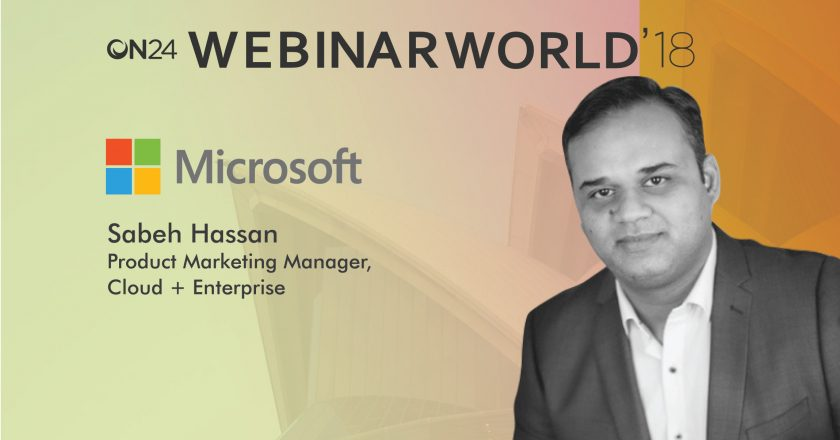 Webinar World Techbytes With Sabeh Hassan, Product Marketing Manager, Cloud, Microsoft
