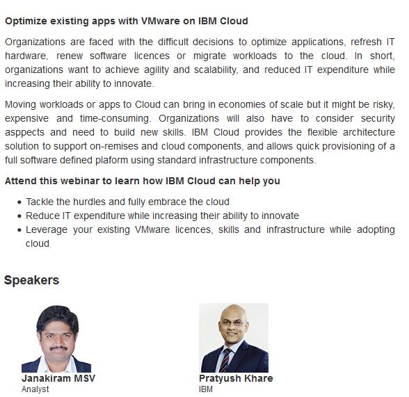 Cloud Webinar Series