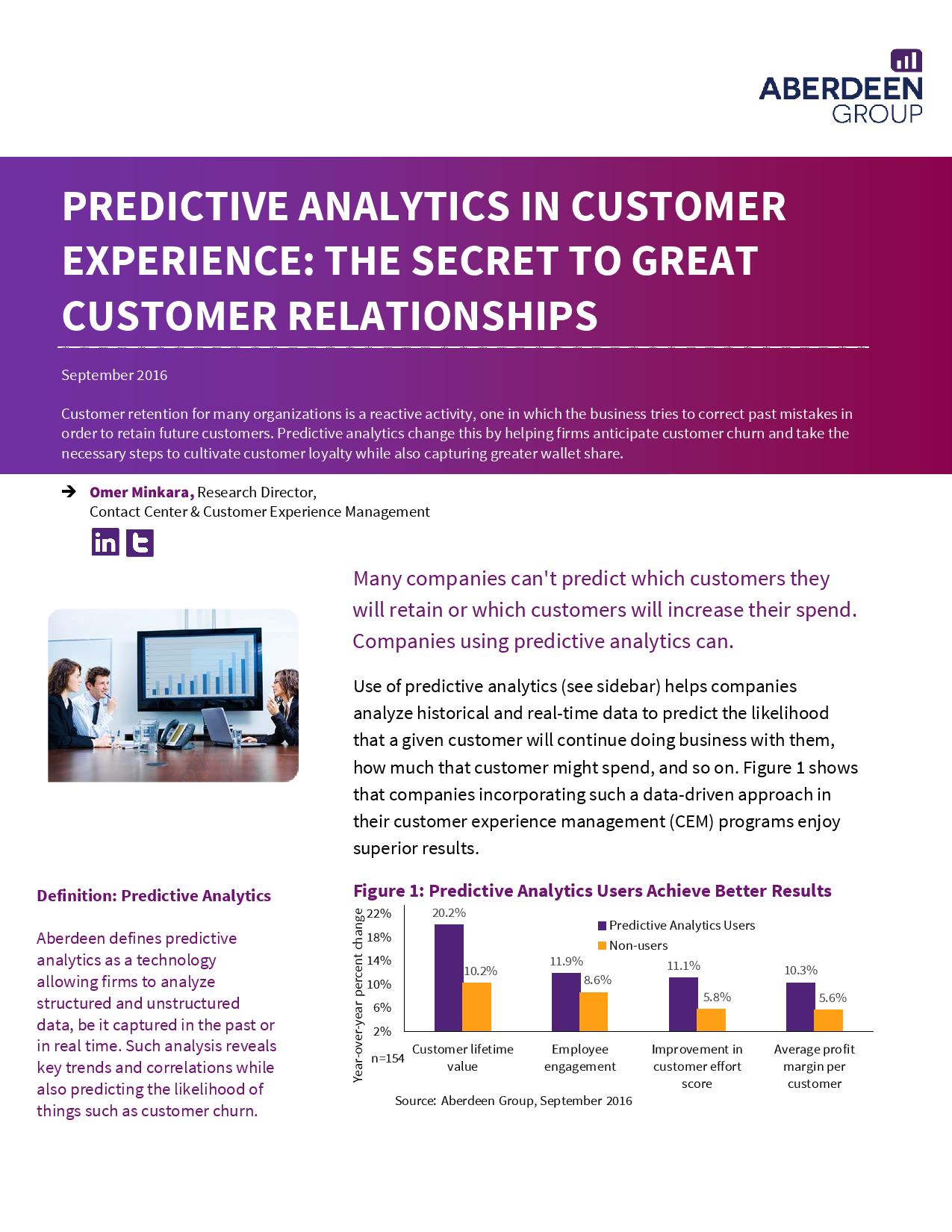 Predictive analytics in customer experience The secret to great customer relationships