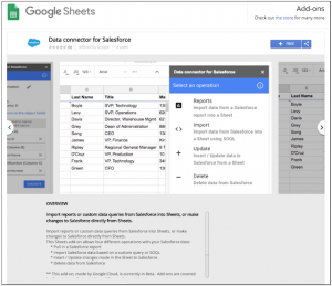 GCP-Salesforce-Sheets-Add-on