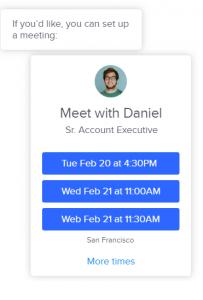 Schedule Sales meetings INTERCOM