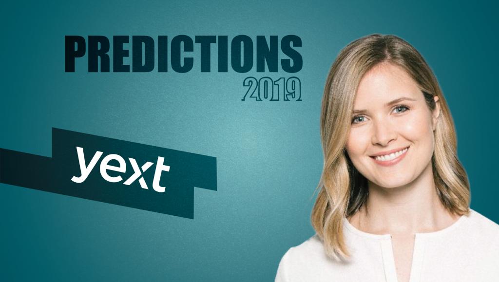 Prediction Series 2019: Interview with Elizabeth Walton, VP Marketing, Yext
