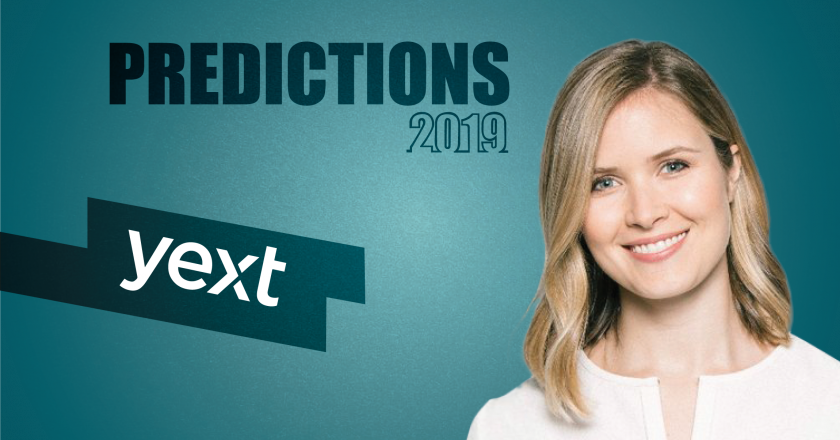 Prediction Series 2019: Interview with Elizabeth Walton, VP Marketing, Yext