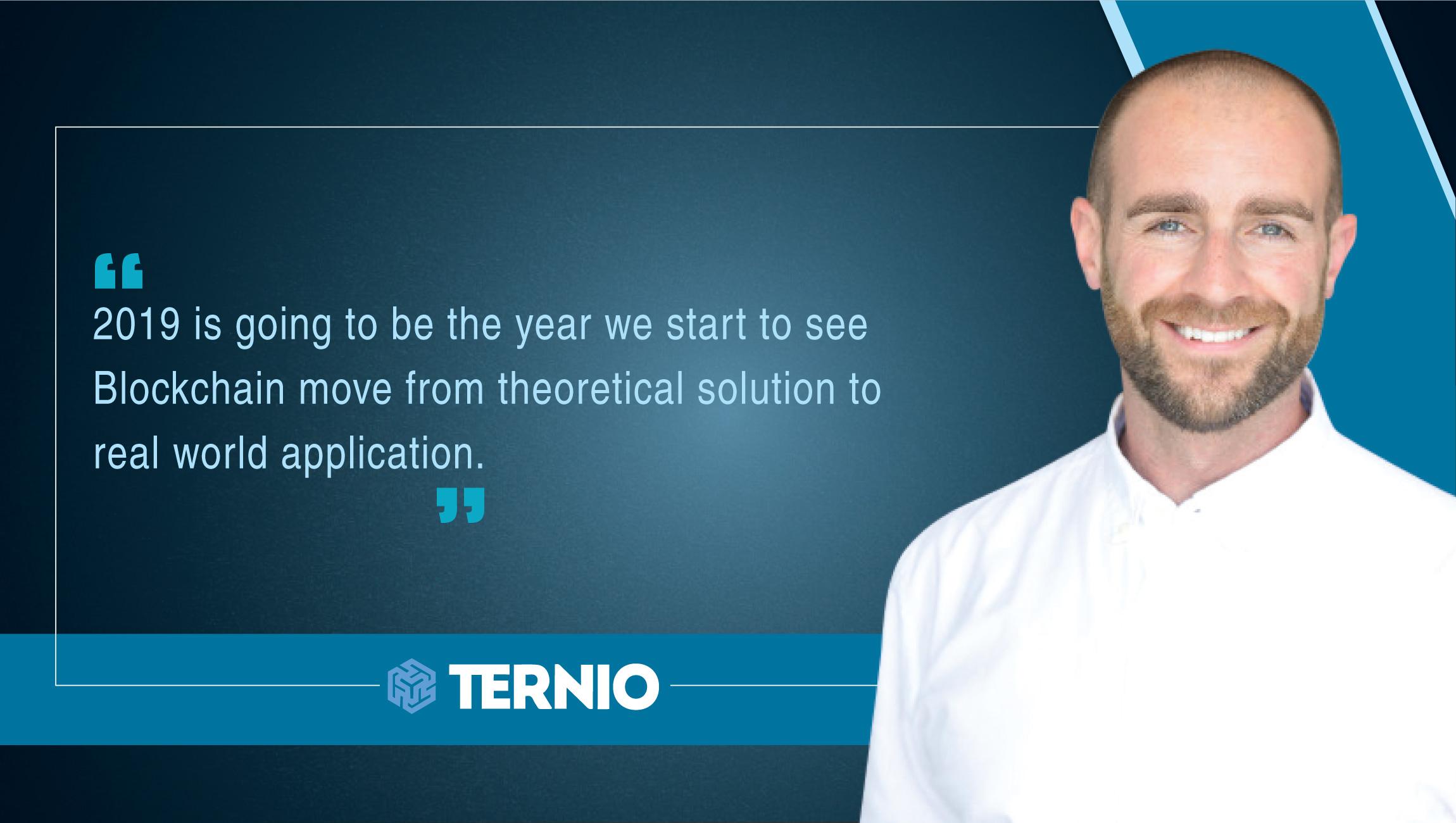 Ian Kane, Founder / COO, Ternio