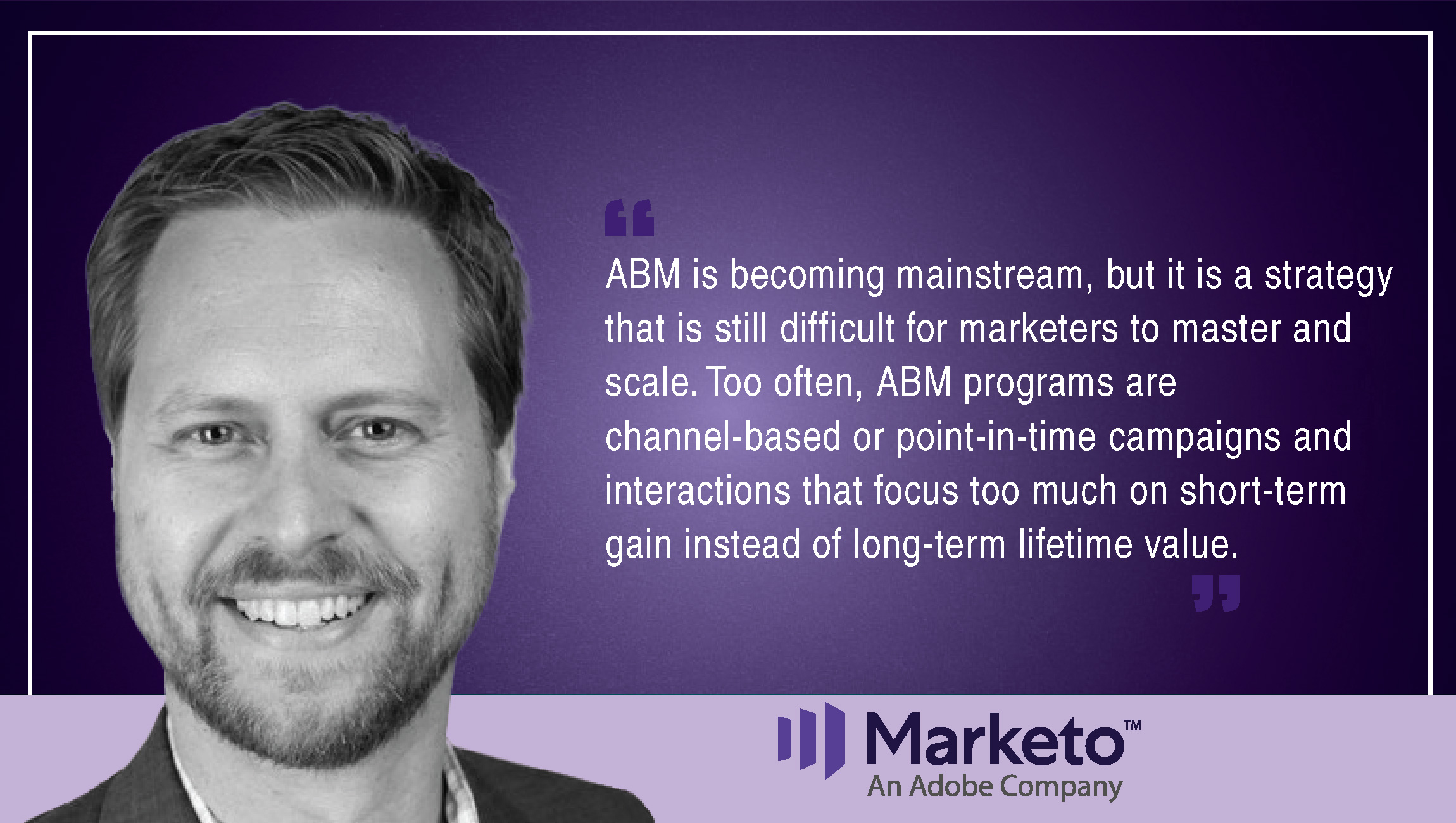 TechBytes with Brian Glover, Head of Product Marketing, Marketo