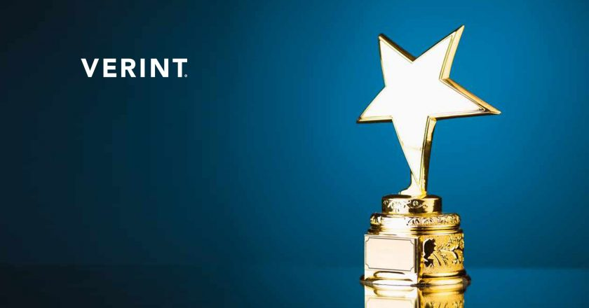 Verint Financial Compliance Wins RegTech Insight Award for Best Vendor Solution for Managing Conduct Risk