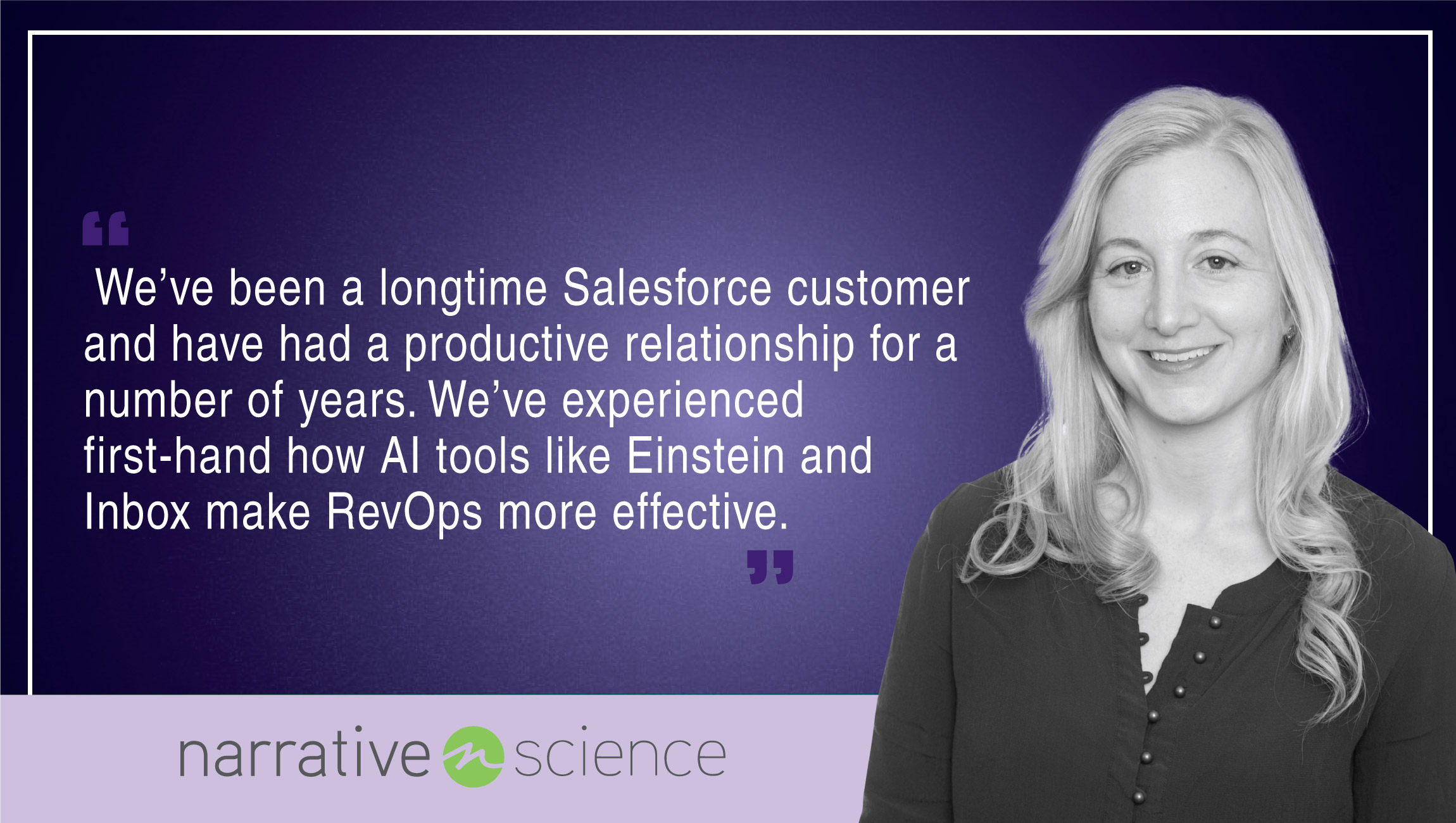 Dreamforce Interview with Keelin McDonell, SVP at Narrative Science cue card
