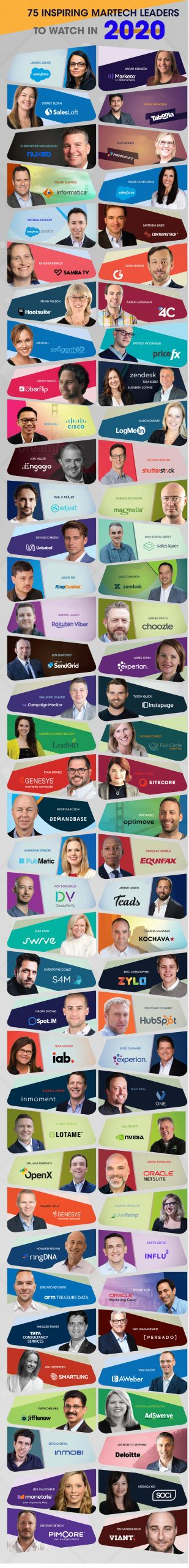 75 Inspiring Martech Leaders