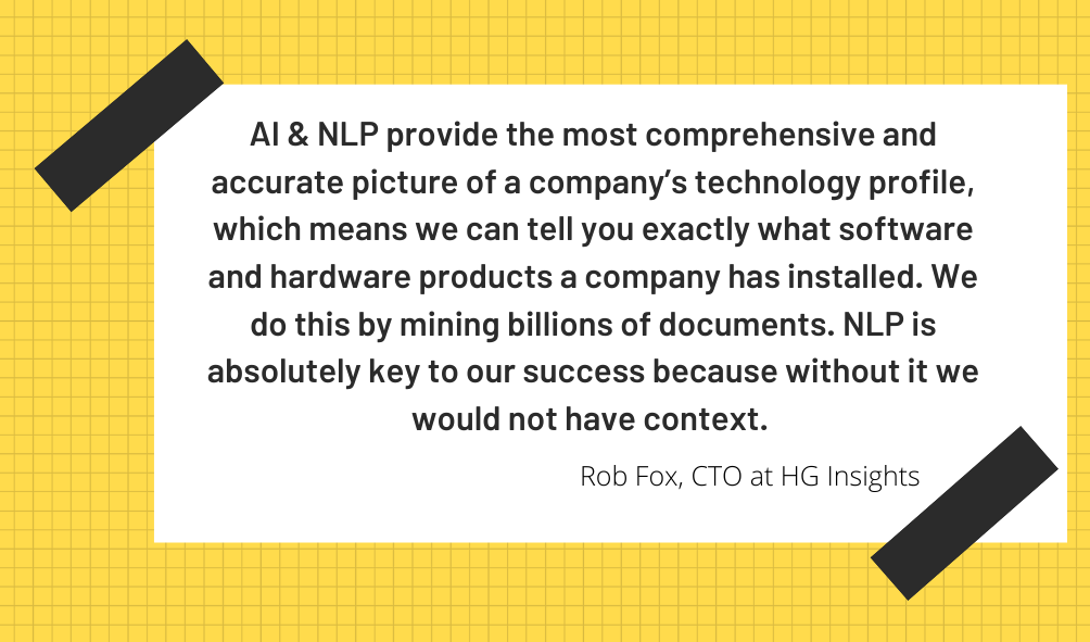 Rob Fox, CTO at HG Insights
