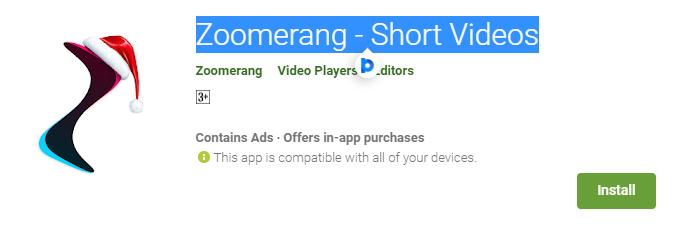 Zoomerang- Short Videos