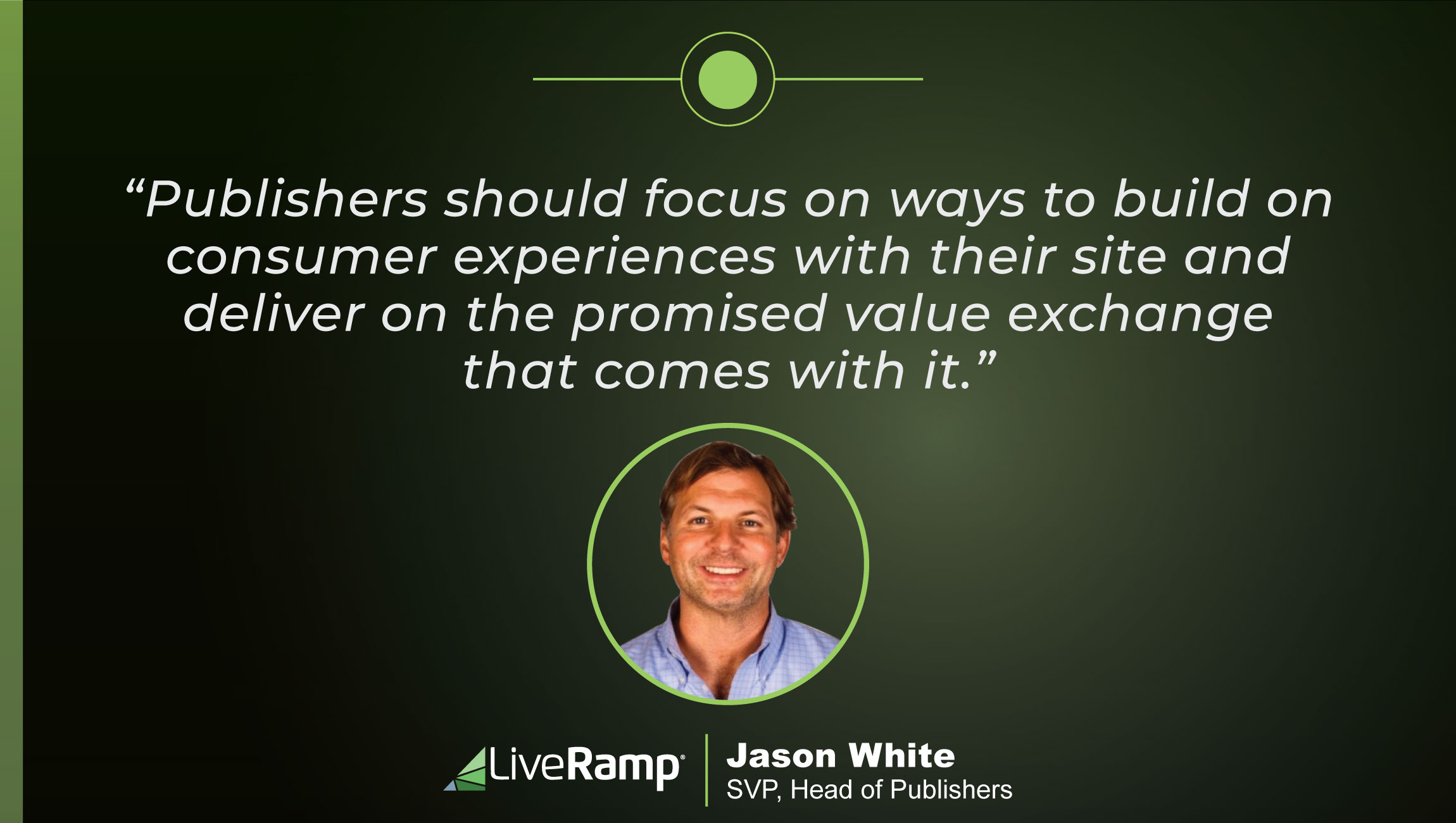 TechBytes with Jason White, SVP, Head of Publishers at LiveRamp