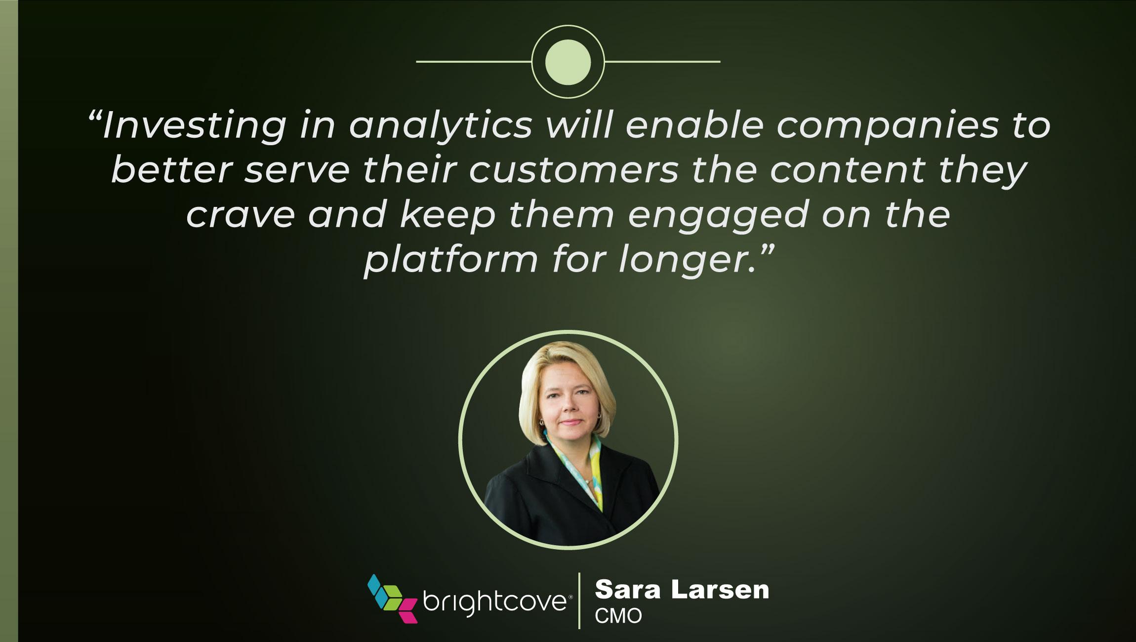 TechBytes with Sara Larsen, CMO at Brightcove
