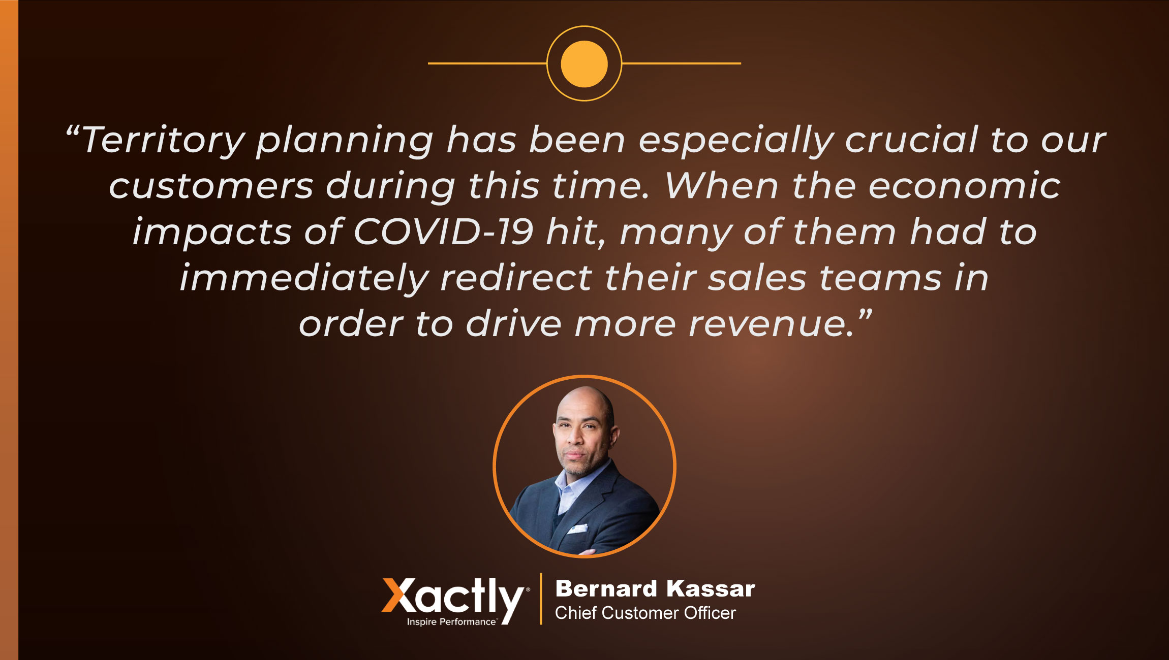 TechBytes with Bernie Kassar, Chief Customer Officer at Xactly- CUE CARD