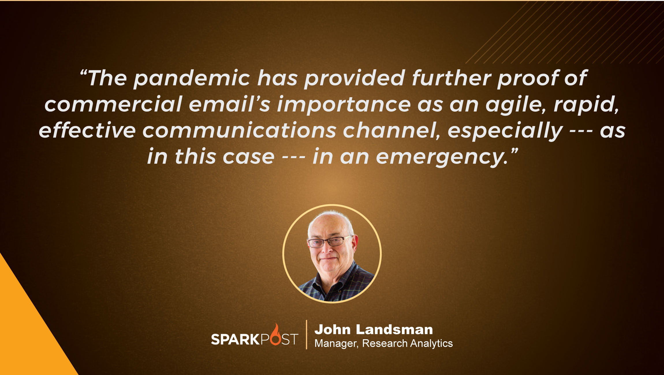 TechBytes with John Landsman, Manager, Research Analytics at SparkPost