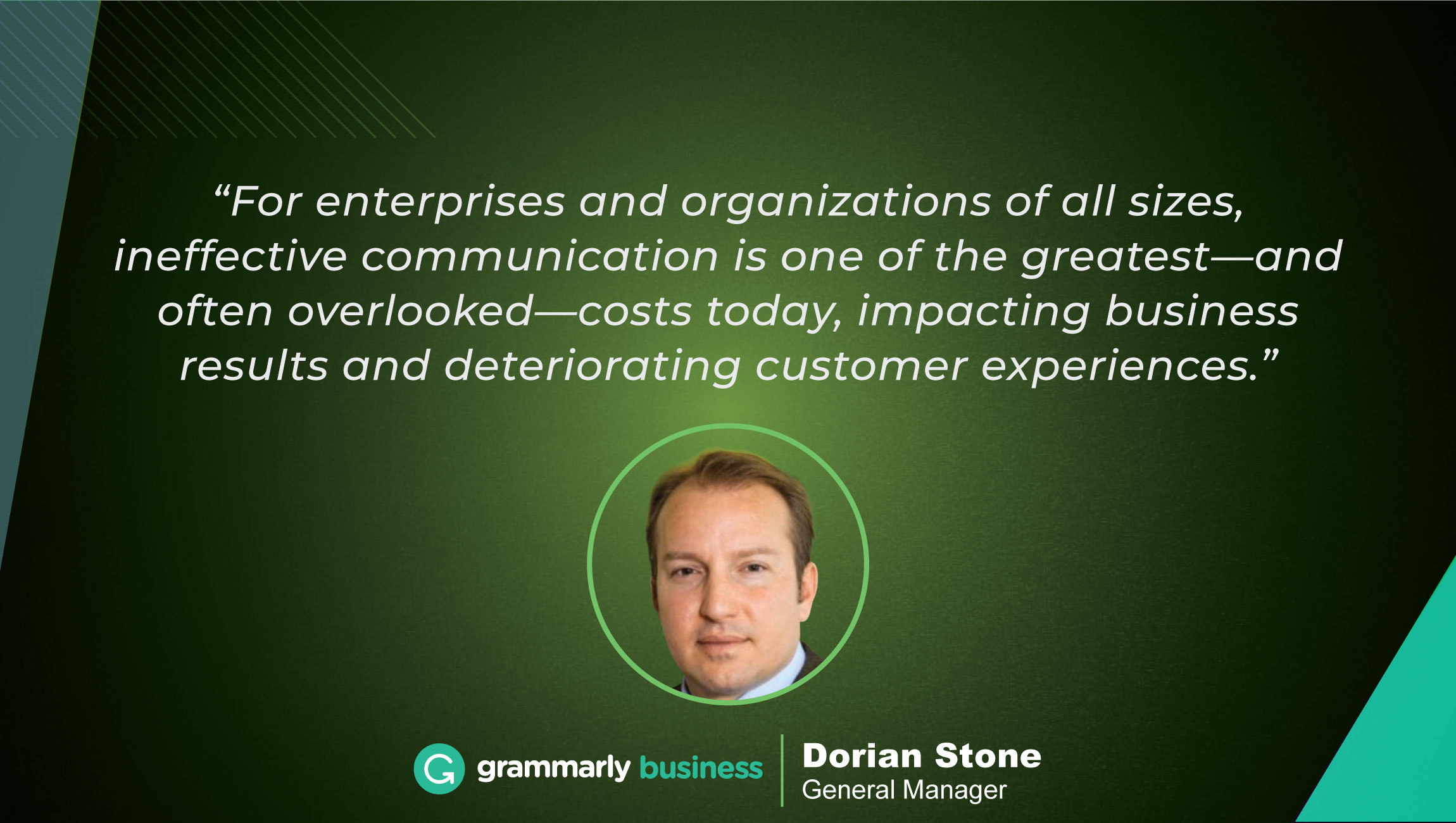 TechBytes with Dorian Stone, General Manager at Grammarly Business